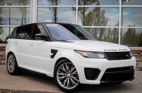 CERTIFIED PRE-OWNED 2017 LAND ROVER RANGE ROVER SPORT SVR WITH NAVIGATION & 4WD